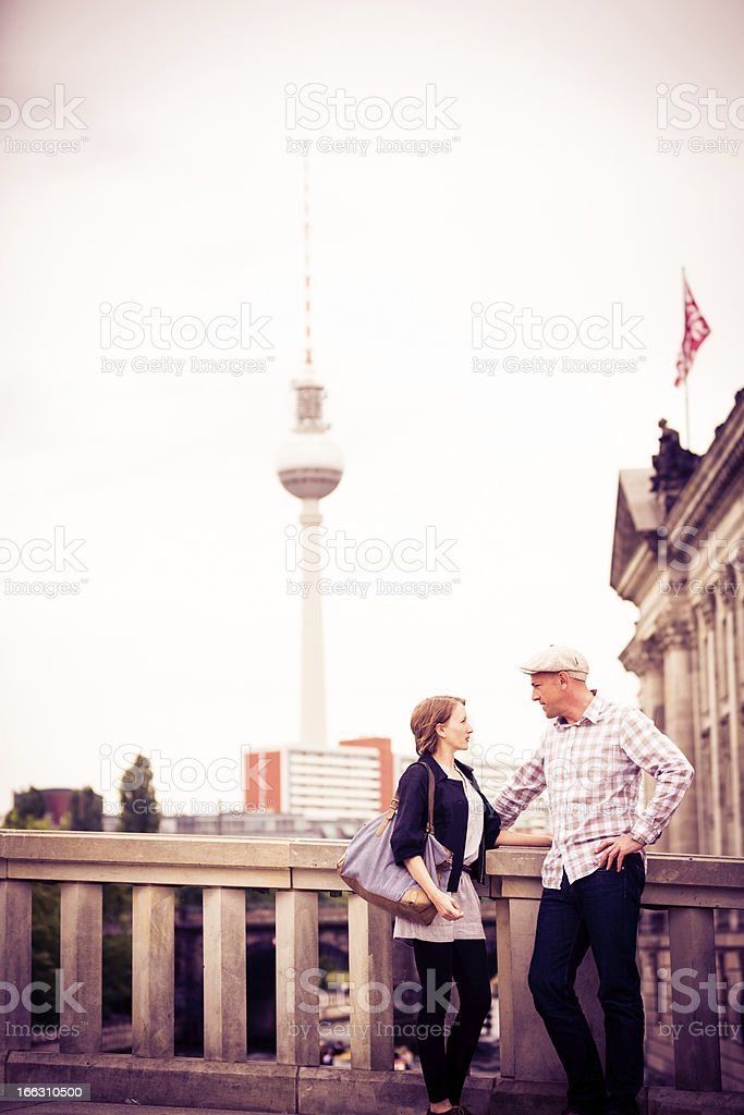 adult couple sight-seeing in berlin royalty-free stock photo