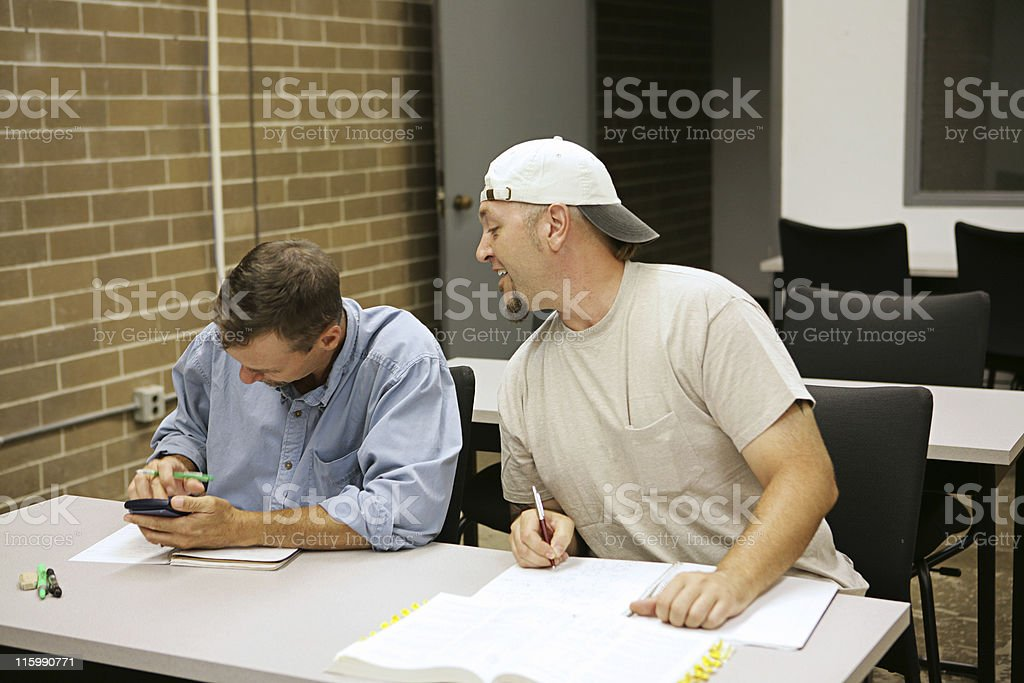 Adult Ed - Copying royalty-free stock photo