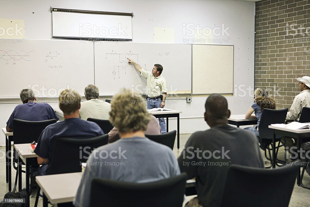 Adult Ed - Electricity stock photo