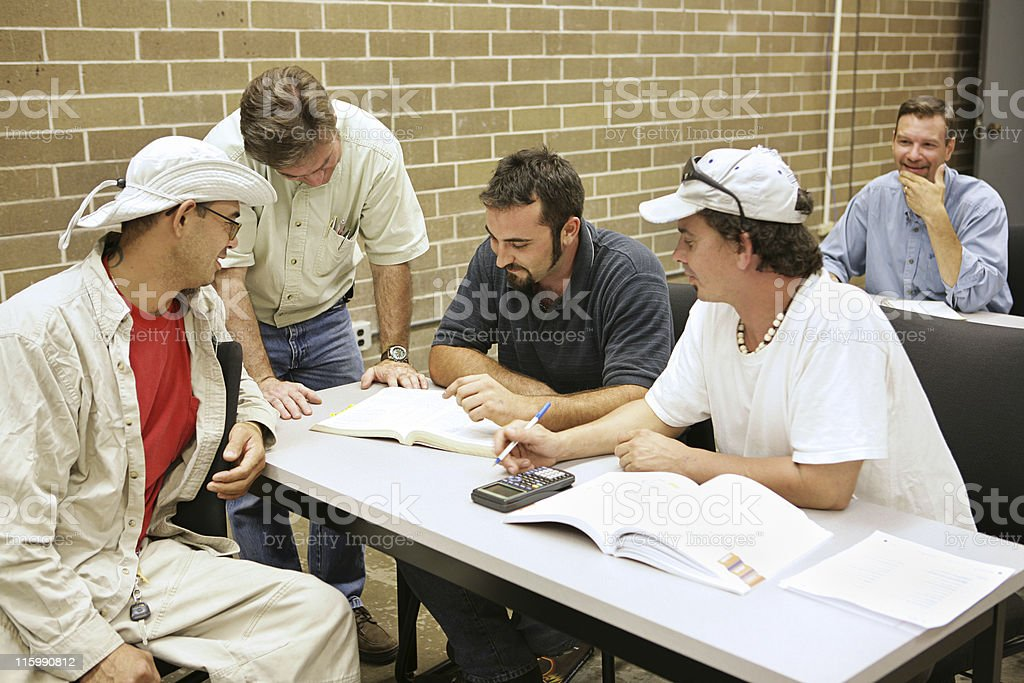 Adult Ed Problem Solving royalty-free stock photo