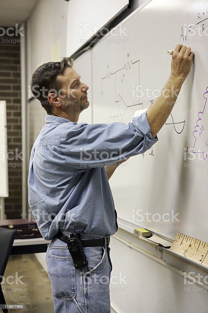 Adult Ed Teacher Vertical royalty-free stock photo