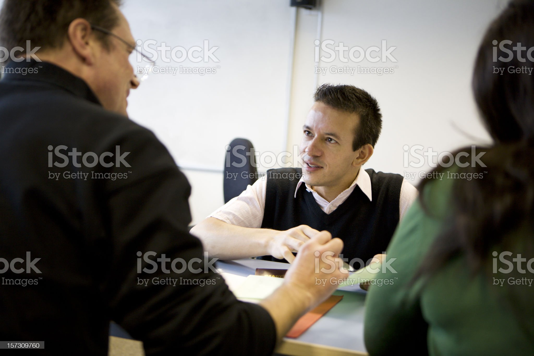 adult education: advice from teacher in an adult education class royalty-free stock photo