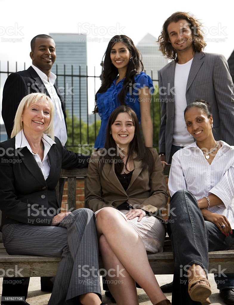 adult education business studies: business friends royalty-free stock photo