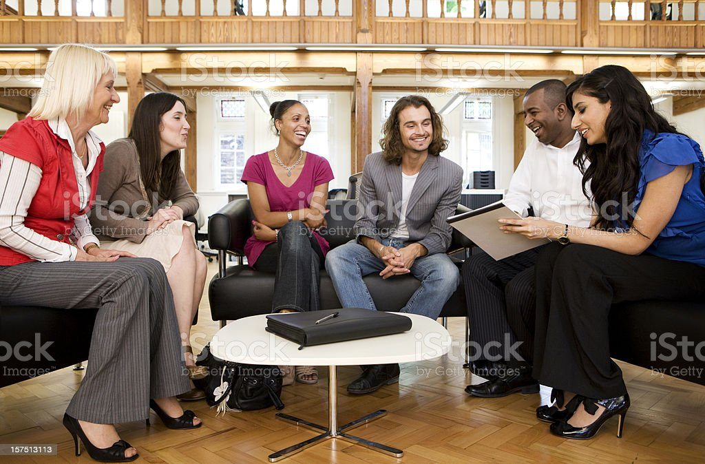 adult education business studies: business school royalty-free stock photo