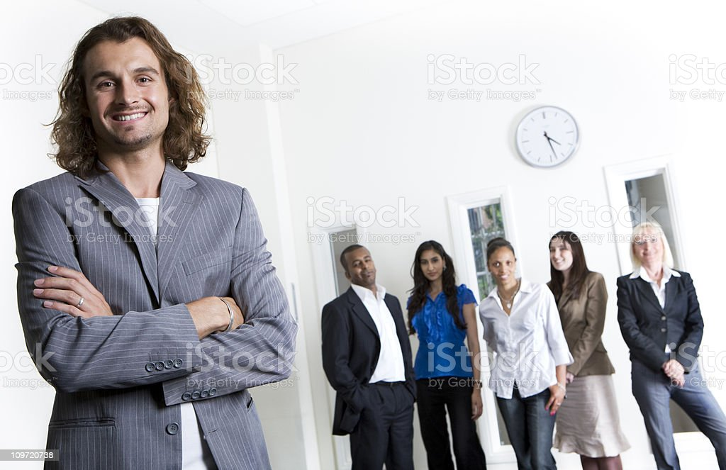 adult education business studies: leading the team royalty-free stock photo