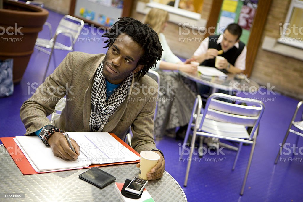 adult education: working lunch royalty-free stock photo