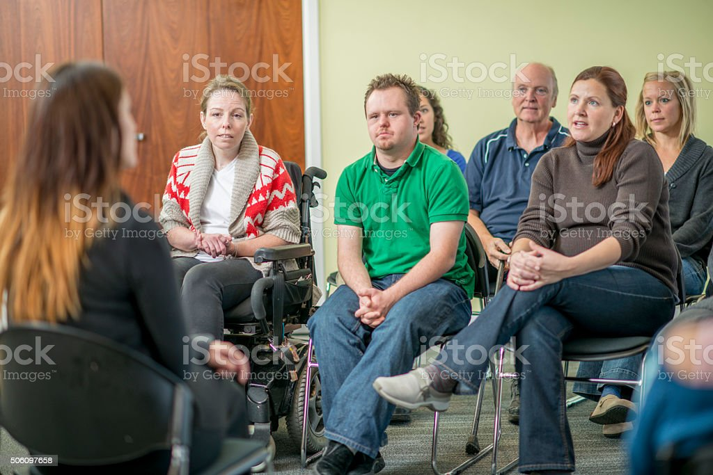 Adult Group Therapy stock photo