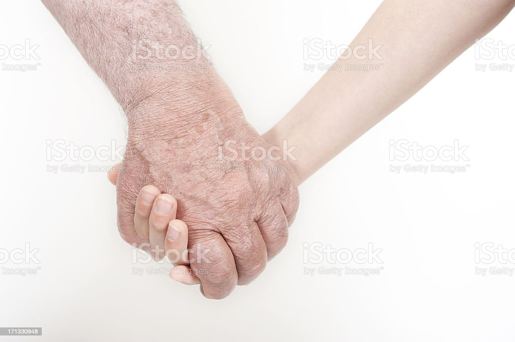 Adult Holding Child's Hands royalty-free stock photo