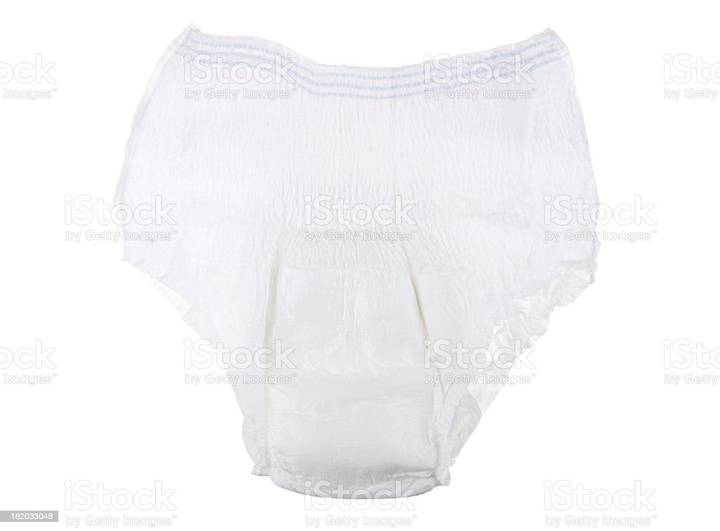 Adult Incontinence Underwear isolated On White stock photo