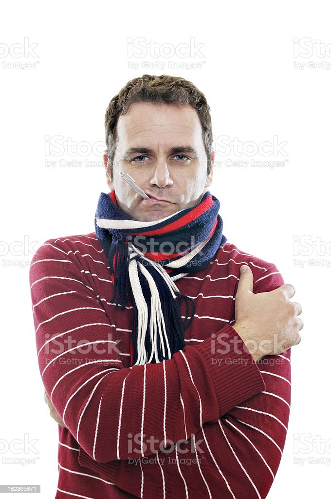 Adult male feeling ill stock photo