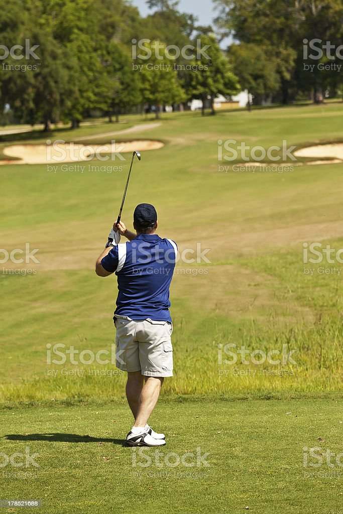Adult Male Golfer royalty-free stock photo