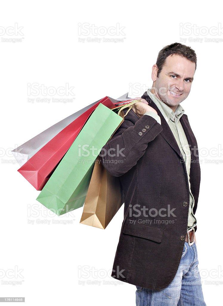Adult male shopper stock photo
