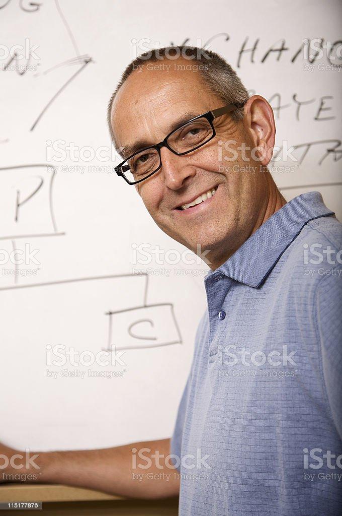 adult male teacher royalty-free stock photo