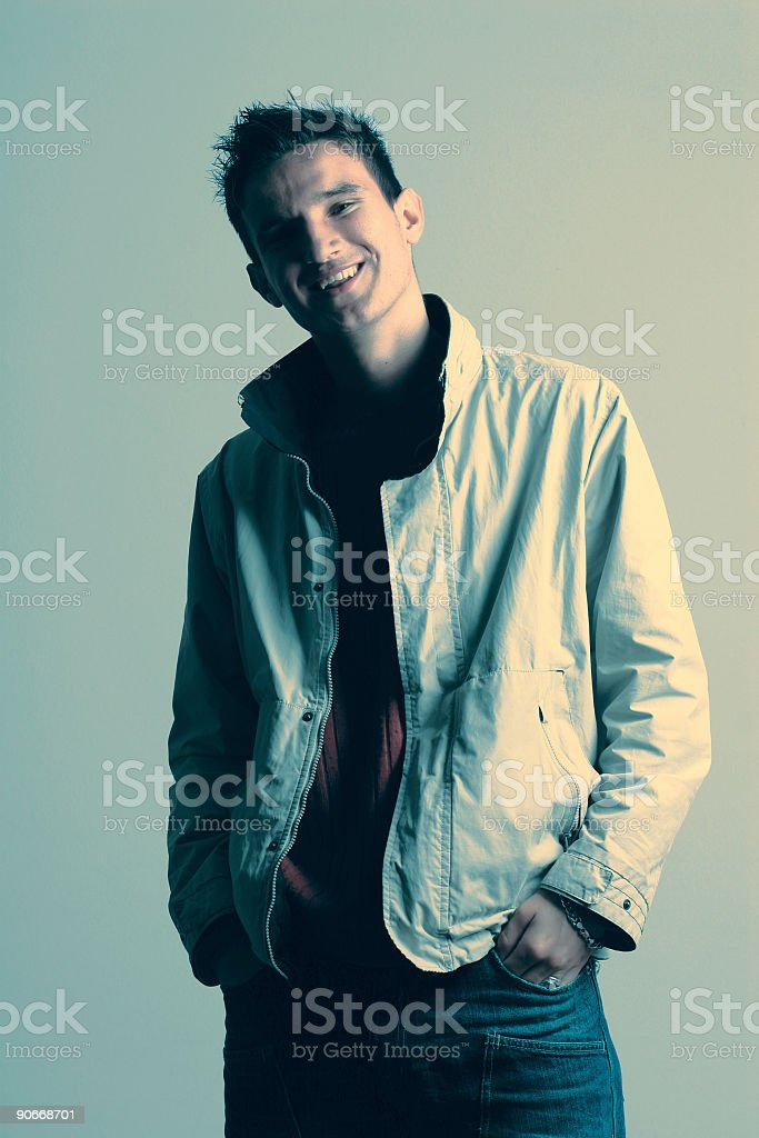 Adult man - crossprocessed royalty-free stock photo