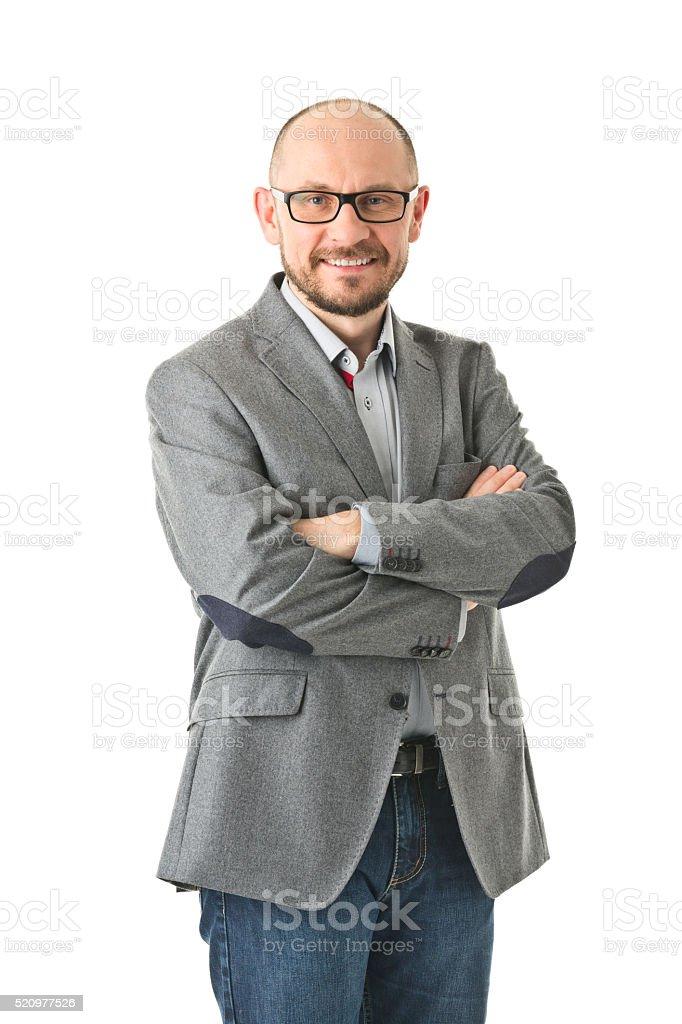adult man isolated on white stock photo