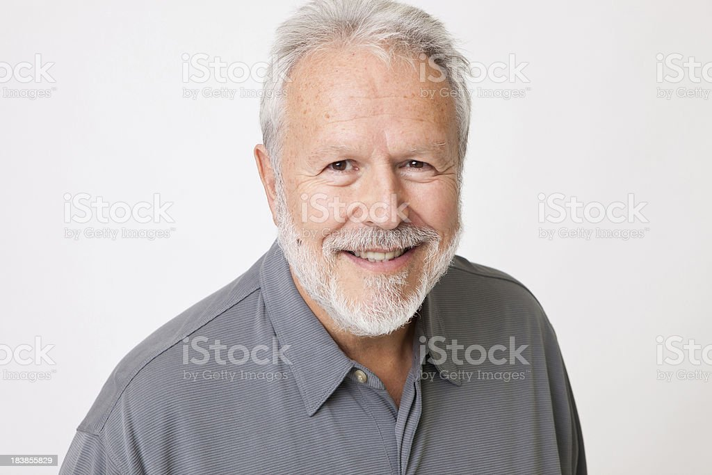 Adult Man on a White Background royalty-free stock photo