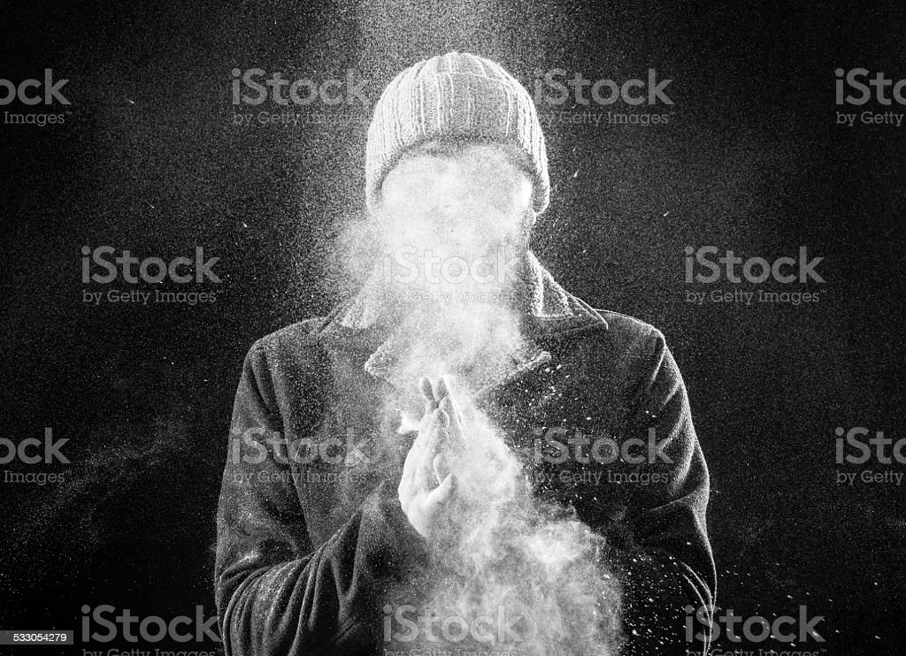 Adult man portrait with no face stock photo