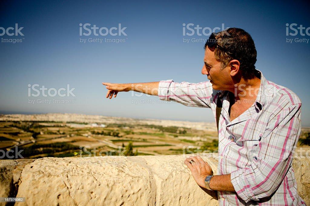 Adult Man Showing Malta royalty-free stock photo
