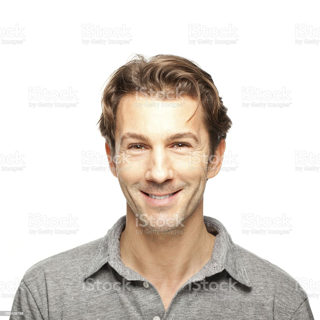 Adult man smiling stock photo