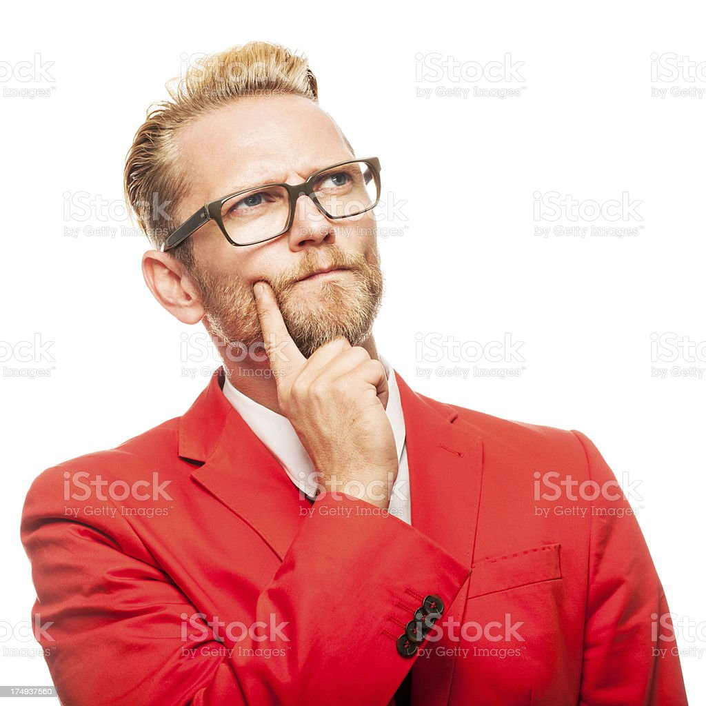 Adult man with a great idea royalty-free stock photo