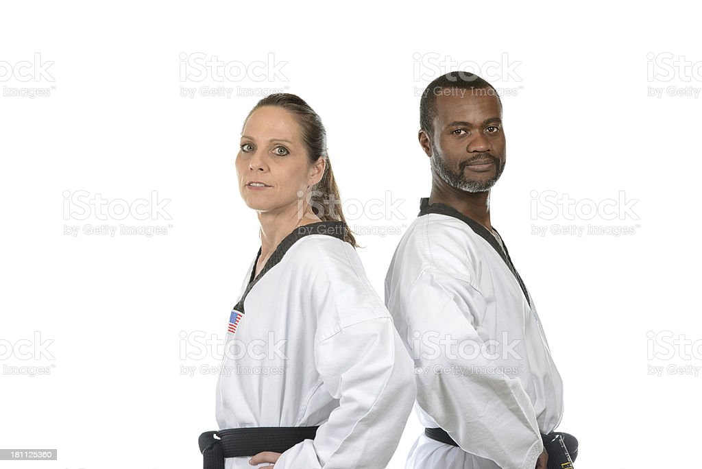 Adult Martial Artists royalty-free stock photo