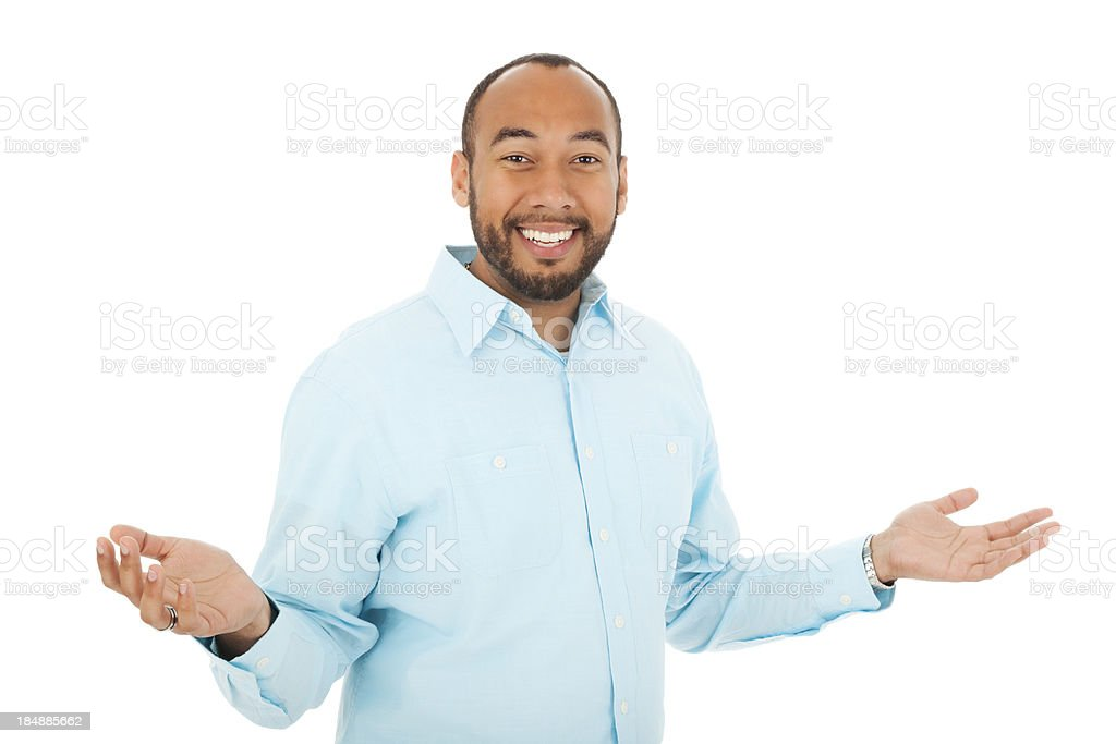 Adult Mixed Race Male With Arms Out royalty-free stock photo