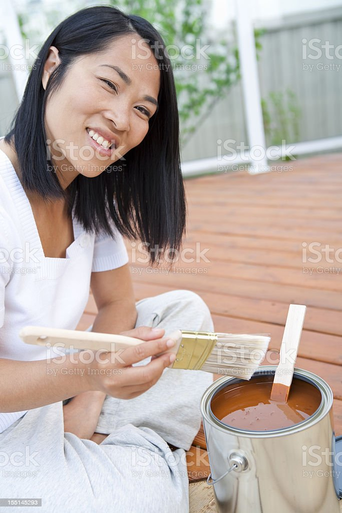 Adult preparing to paint royalty-free stock photo