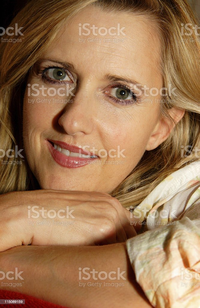 adult scenes - pretty middle aged woman royalty-free stock photo
