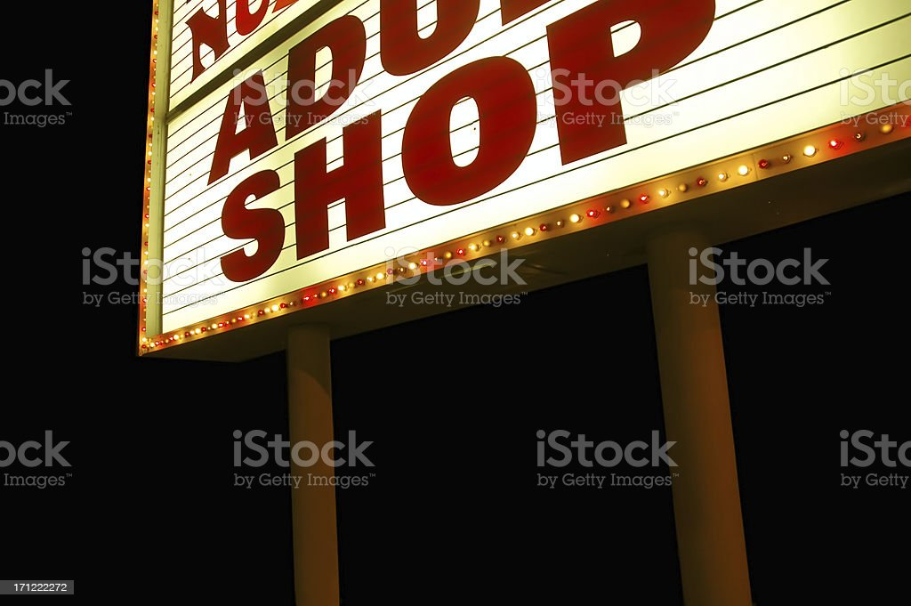 Adult Shop royalty-free stock photo