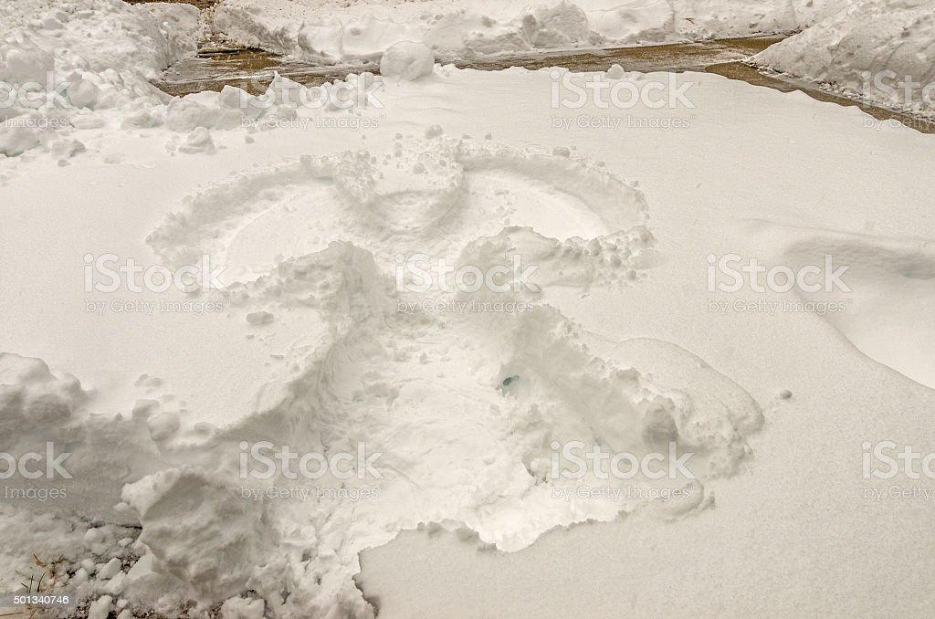 Adult Snow Angel stock photo