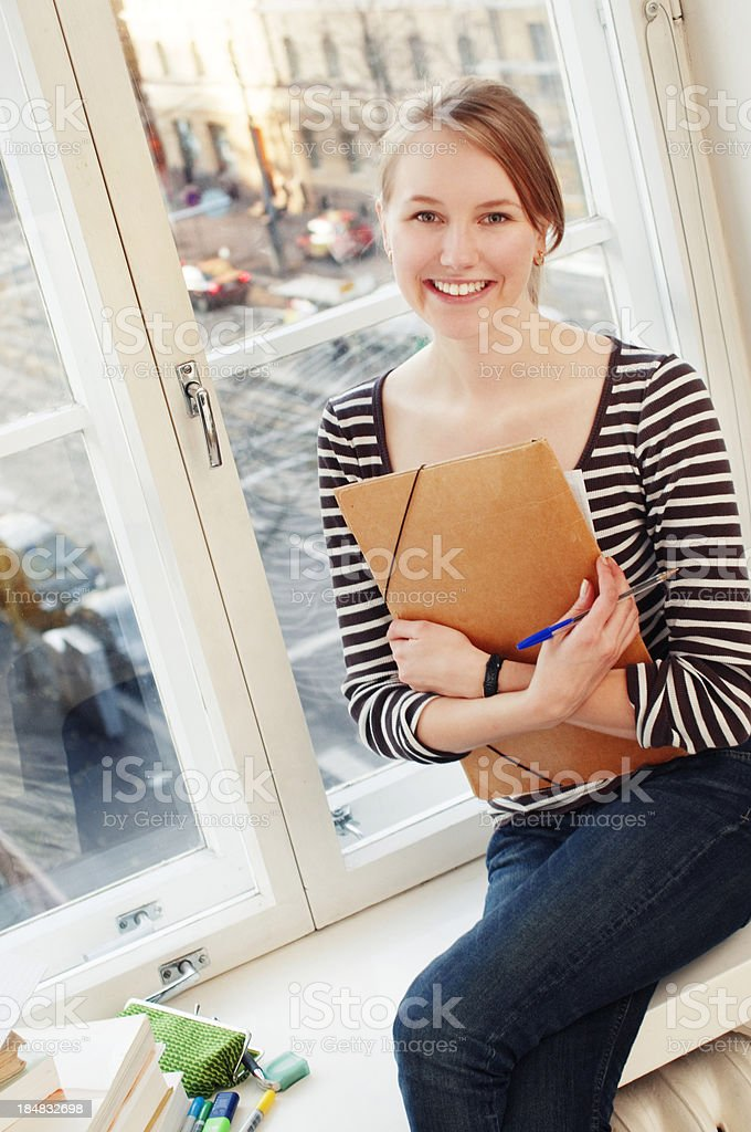 adult student at home royalty-free stock photo