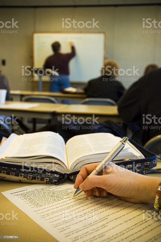 adult study class stock photo