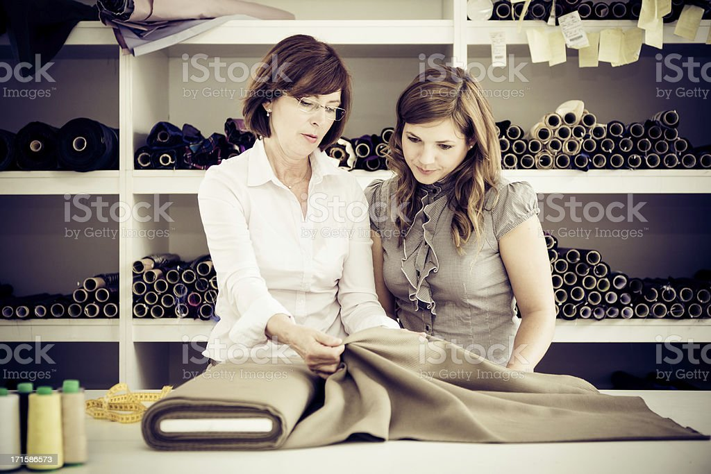adult woman instructing an apprentice royalty-free stock photo