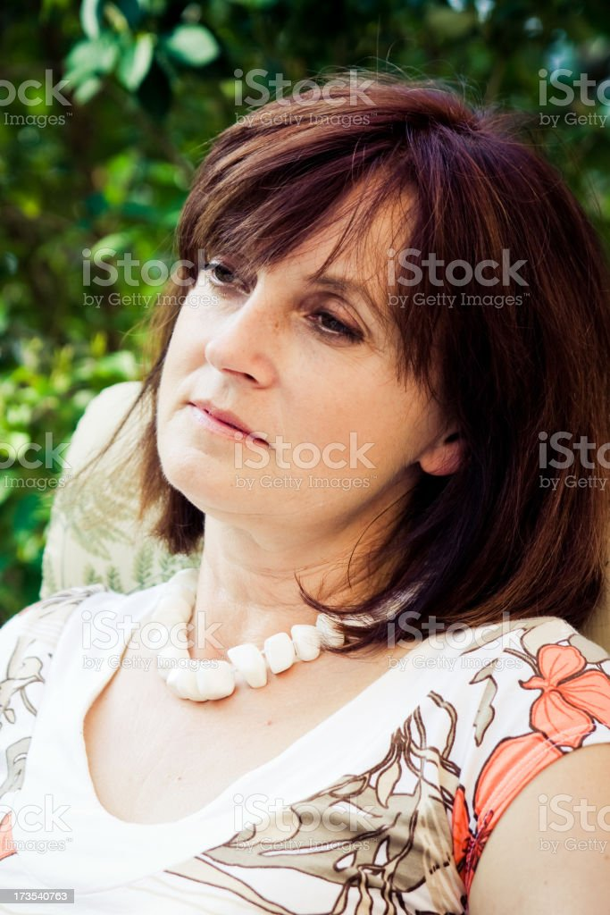 adult woman looking aside royalty-free stock photo