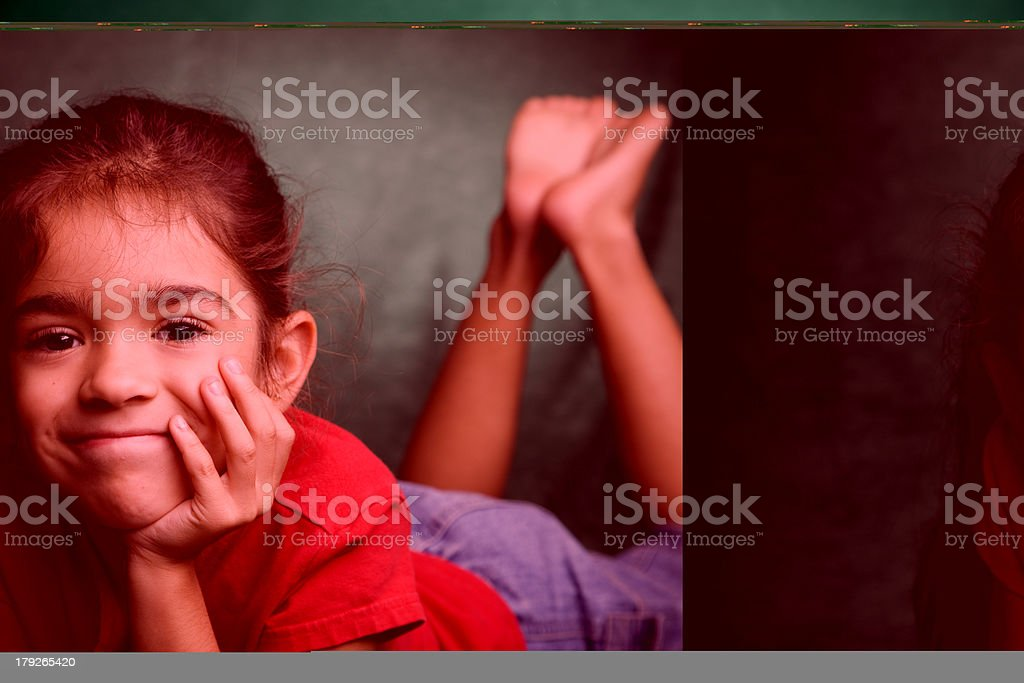 Adult Woman Looks Surprised royalty-free stock photo