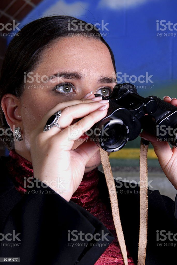 adult woman - people of vision series stock photo