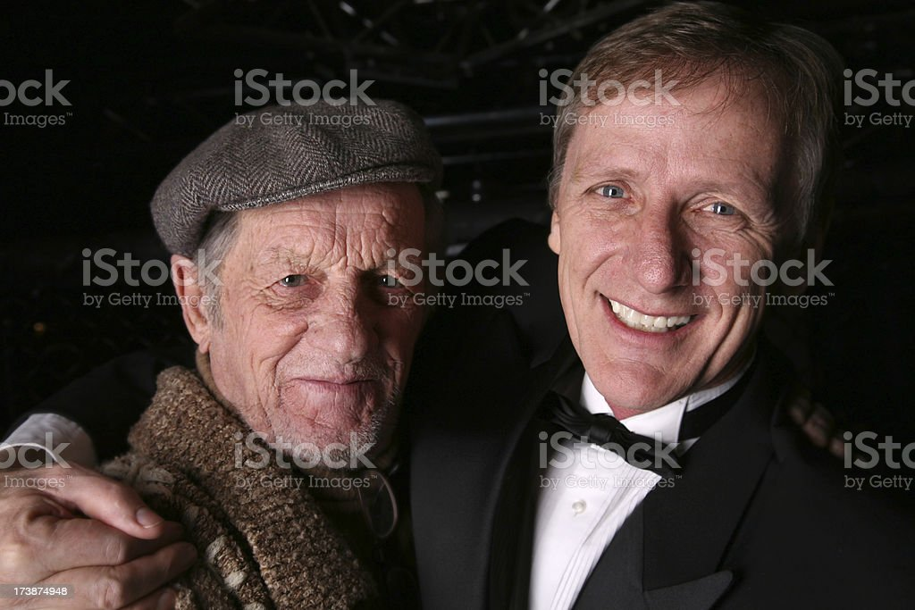 Adults Father and Son royalty-free stock photo