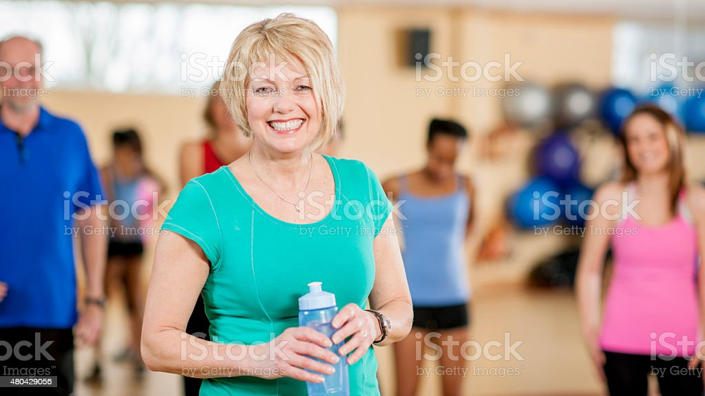 Adults Fitness Class stock photo