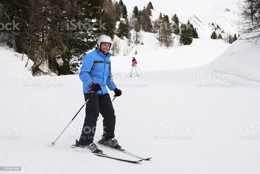 Adults learning to Ski royalty-free stock photo