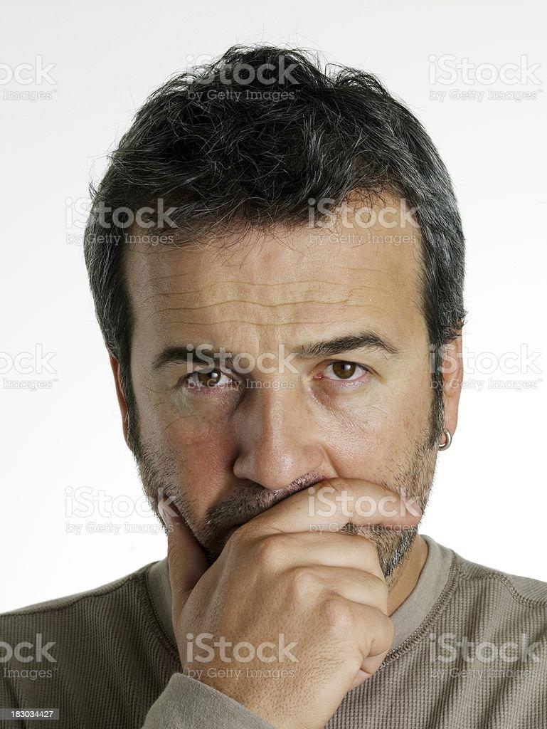 Adults man portrait royalty-free stock photo