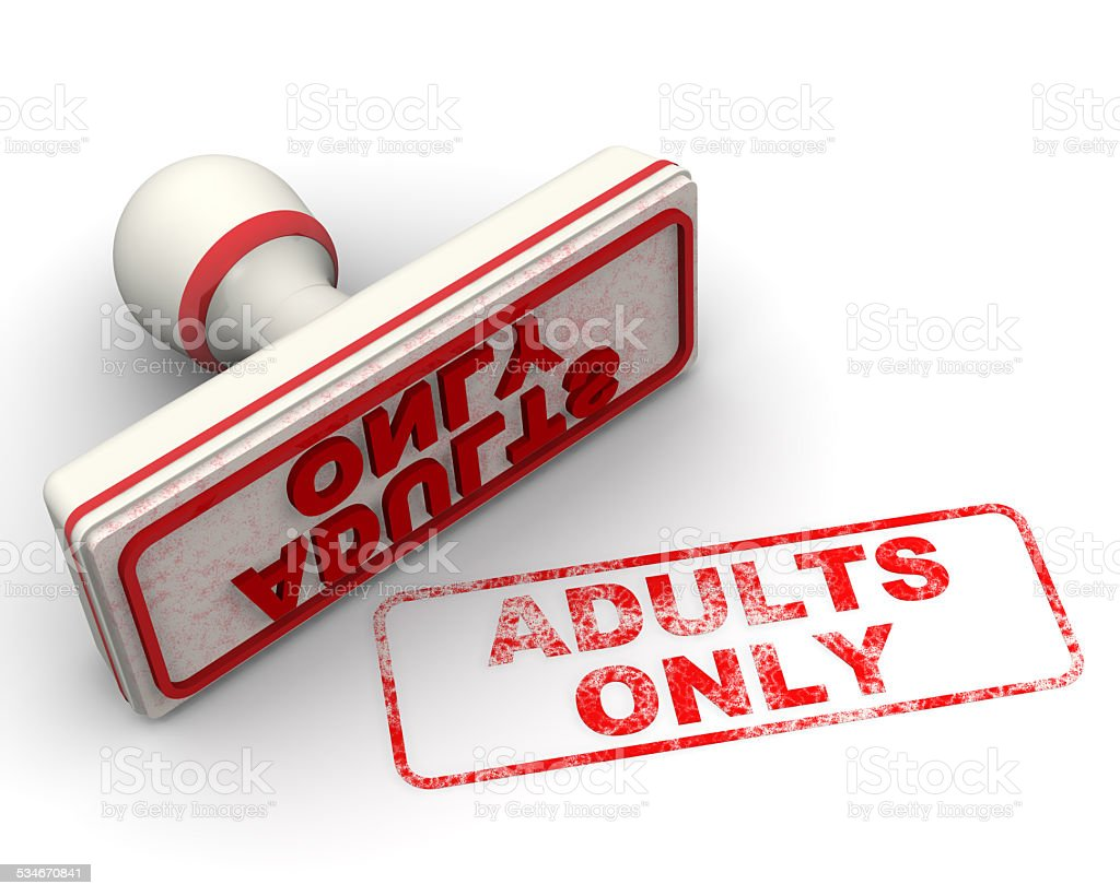 Adults only. Seal and imprint stock photo