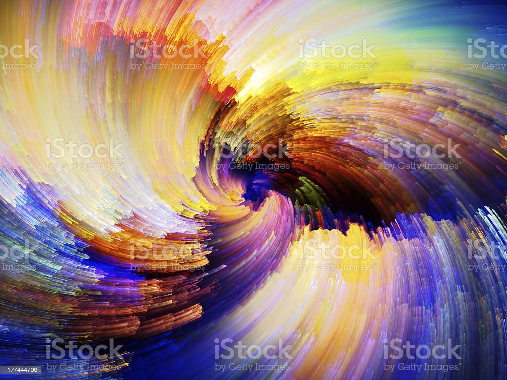 Advance of Digital Paint royalty-free stock photo