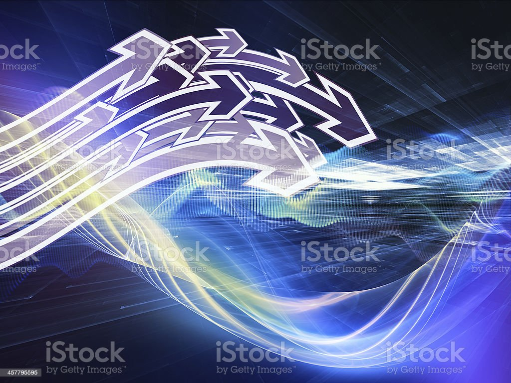 Advance of Fractal Realms royalty-free stock vector art