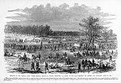 Advance of General McClellan, Yorktown, Virginia, 1862 Civil War Engraving