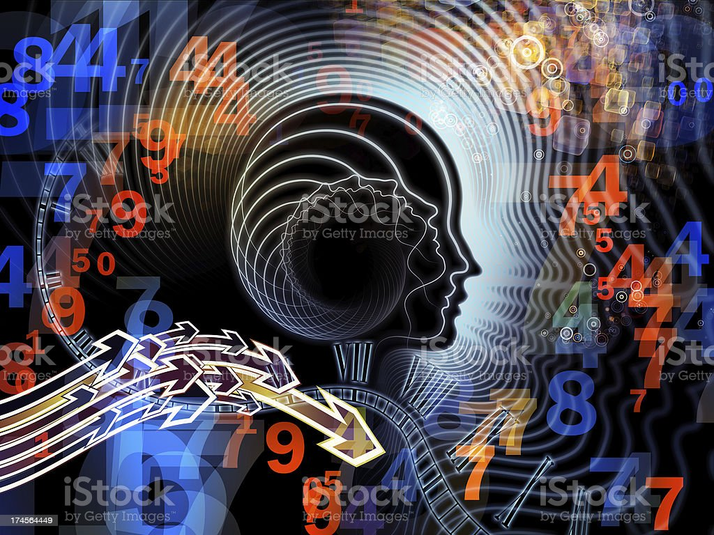 Advance of Human Mind royalty-free stock photo