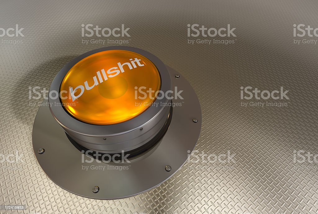 advanced bullsh*t button royalty-free stock photo