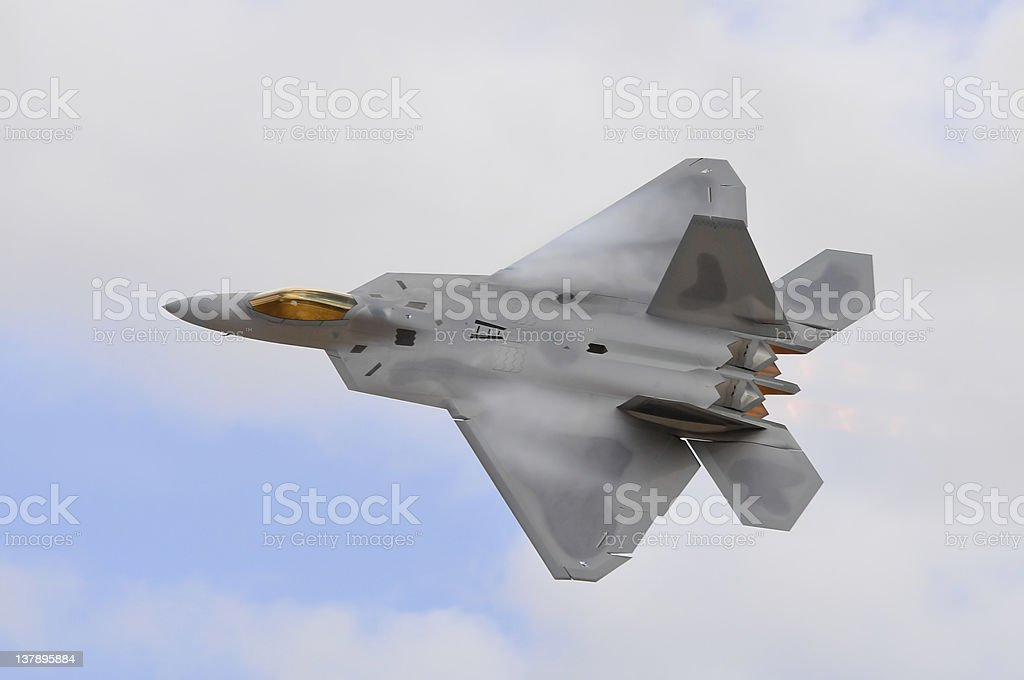 Advanced Tactical Fighter stock photo