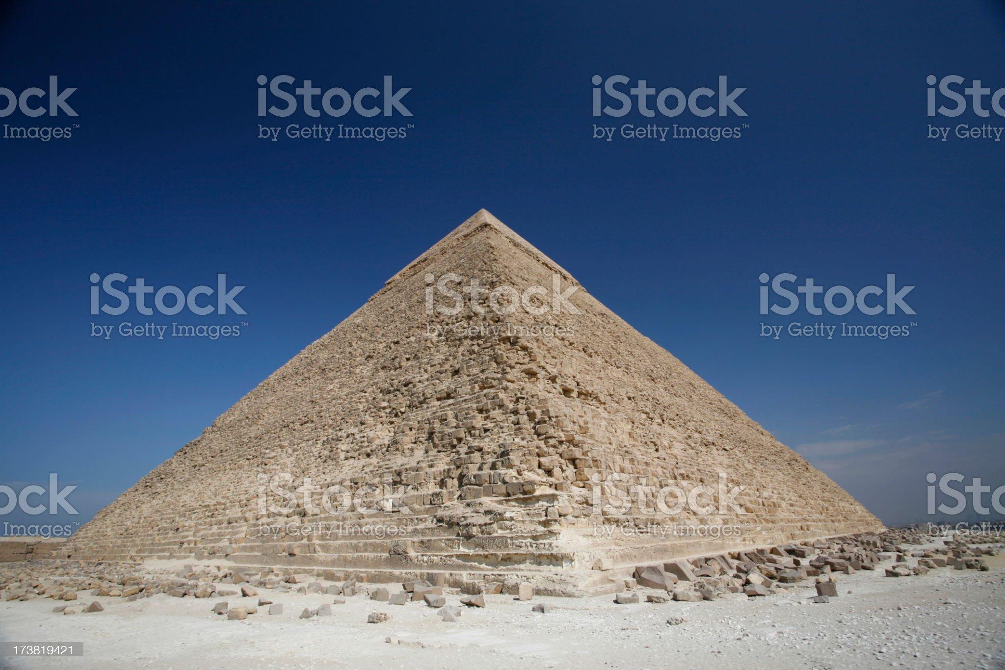 Advanced Traditions, Giza Pyramids royalty-free stock photo