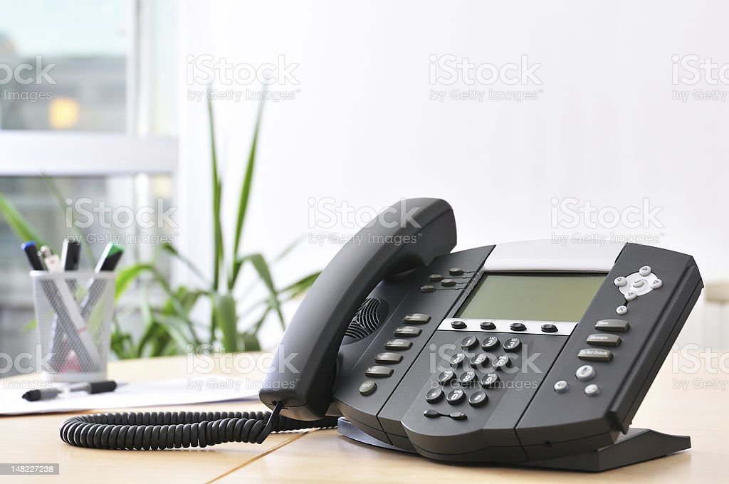 Advanced VoIP Phone stock photo