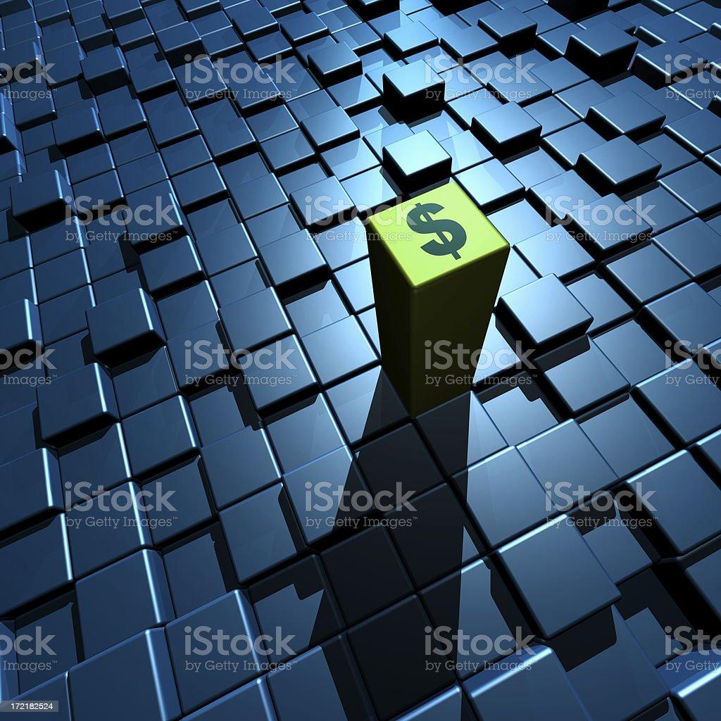 Advancing Dollar (XXL) royalty-free stock photo